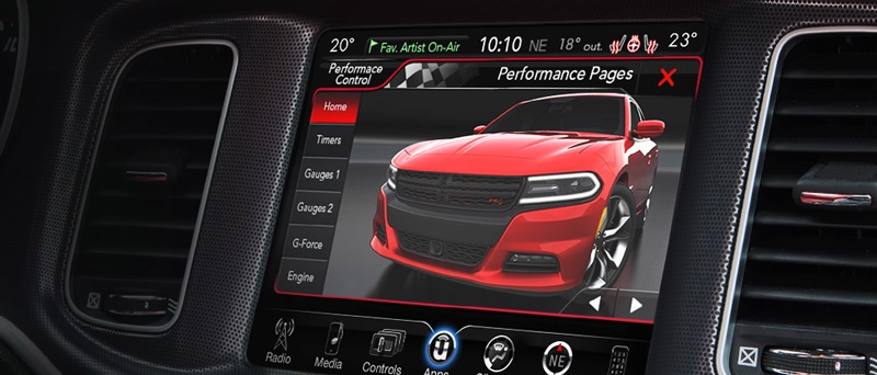 2016 Dodge Charger interior features