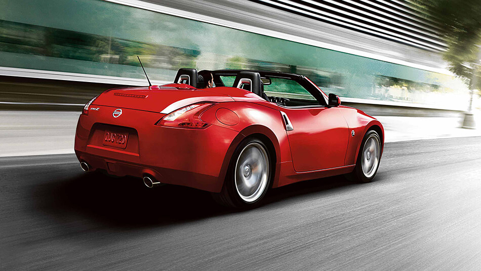 2017 Nissan 370Z Roadster red exterior model on the road