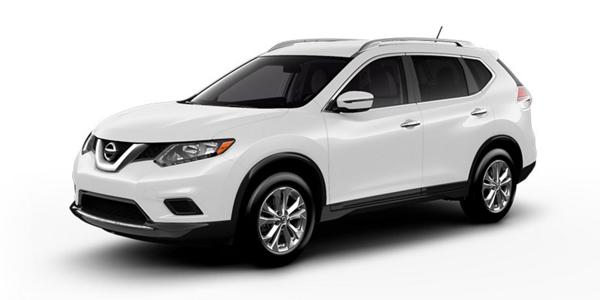 2016 Nissan Rogue white exterior