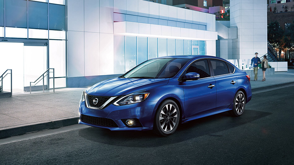 2016 Nissan Sentra blue exterior