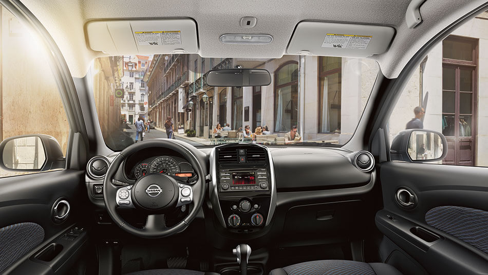 2016 Nissan Micra front interior features