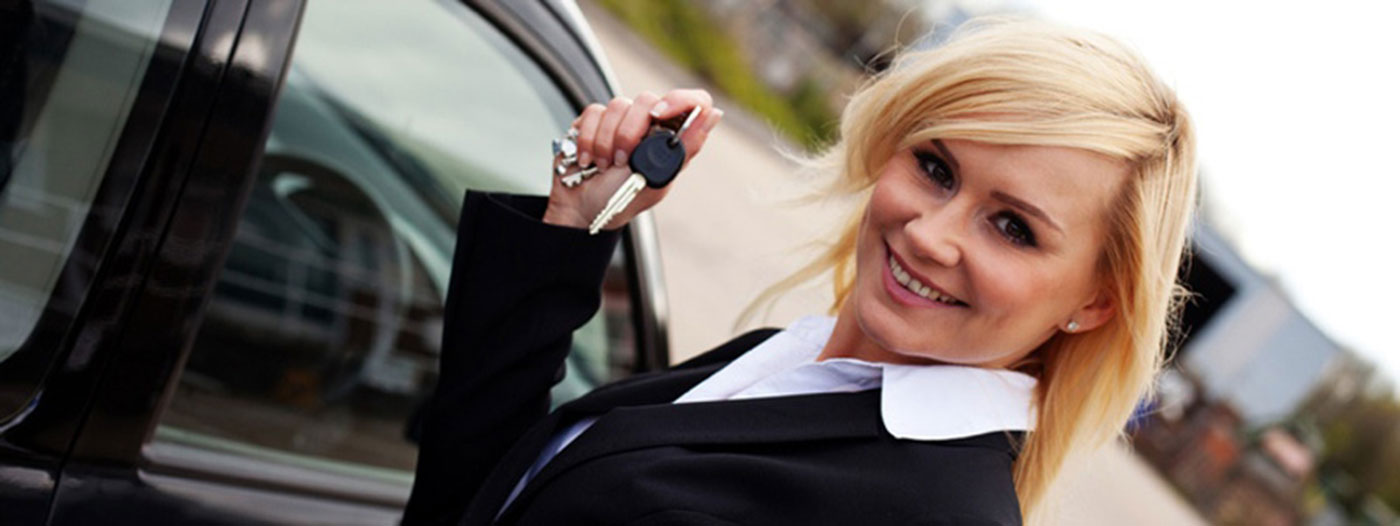happy new car buyer