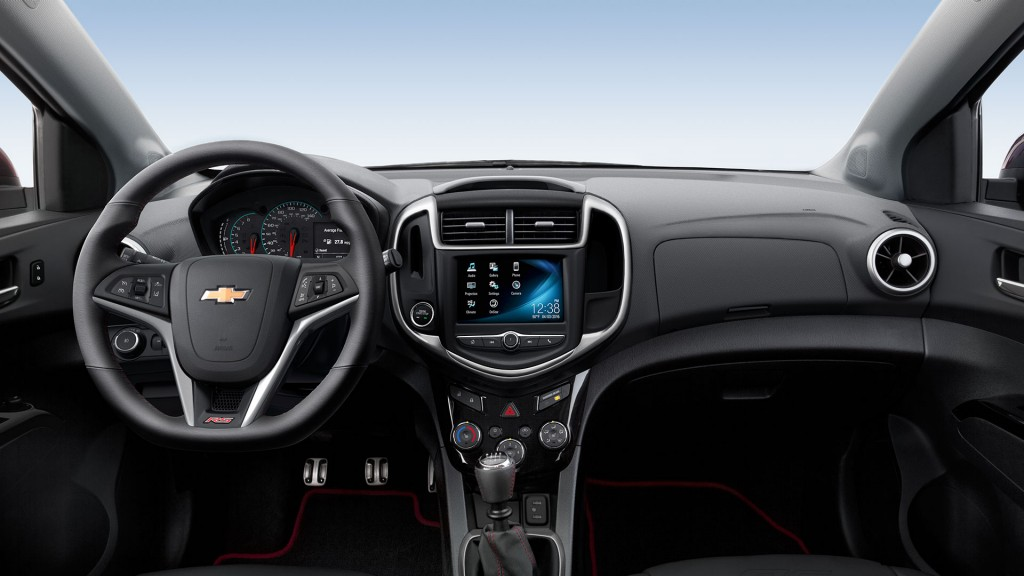 2016 Chevy Sonic Front Interior