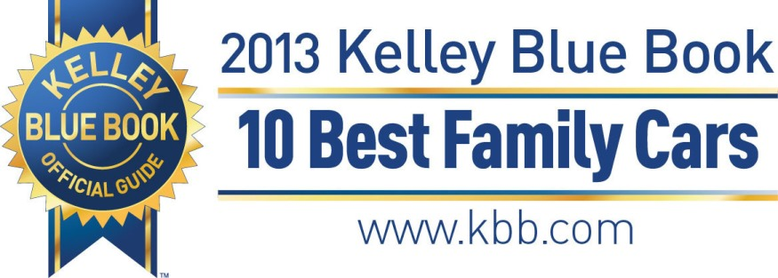 Kelley Blue Book Best Family Cars 2013