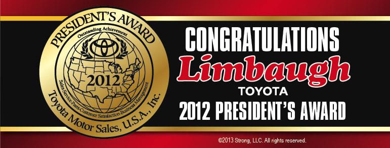 limbaugh toyota president's award