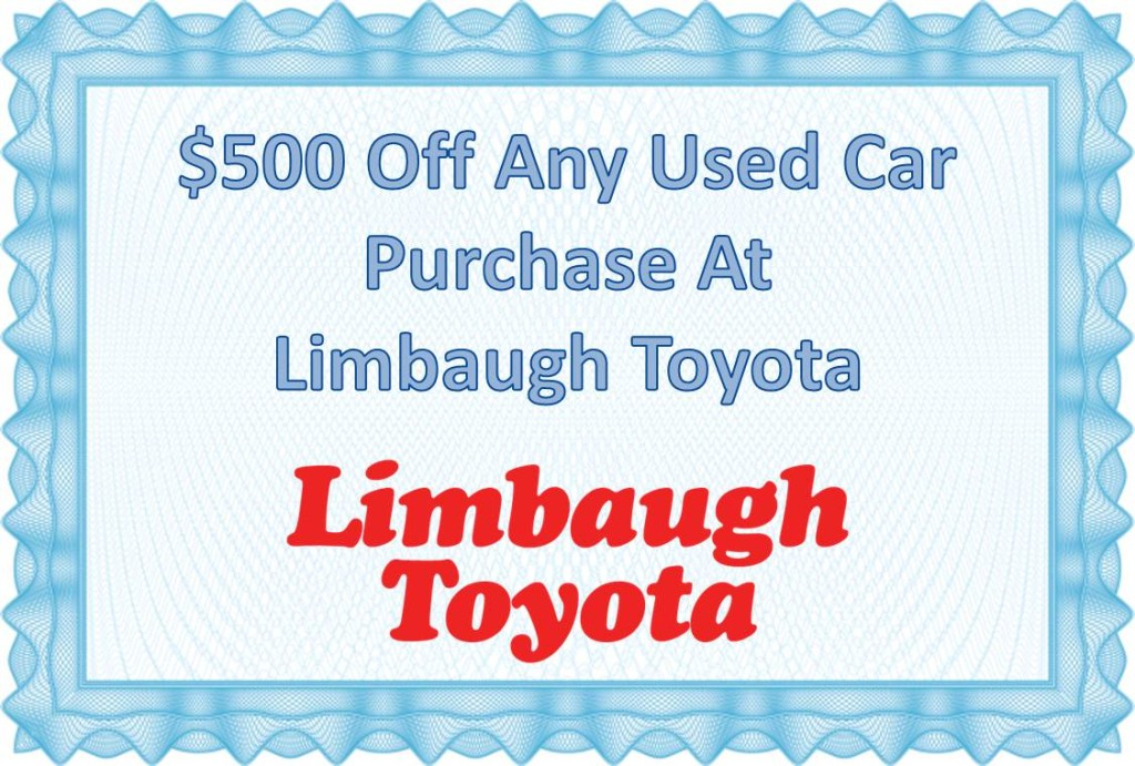 limbaugh toyota coupon