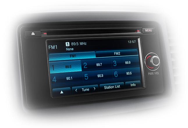 Mitsubishi Lancer Evolution touchscreen
