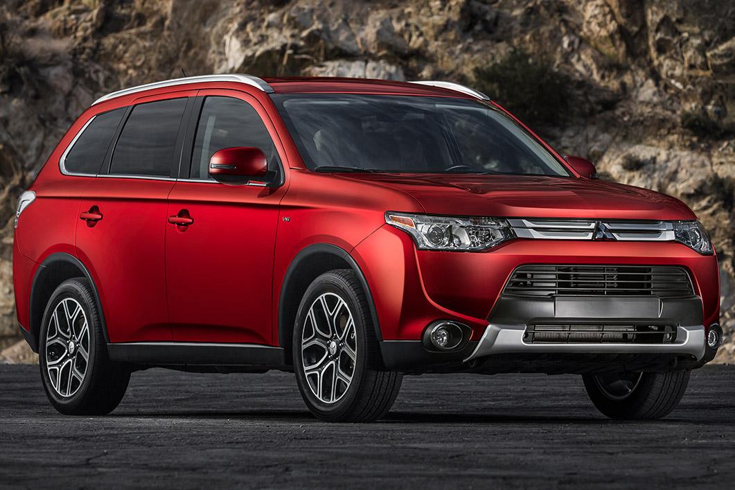 2015 Mitsubishi Outlander Red