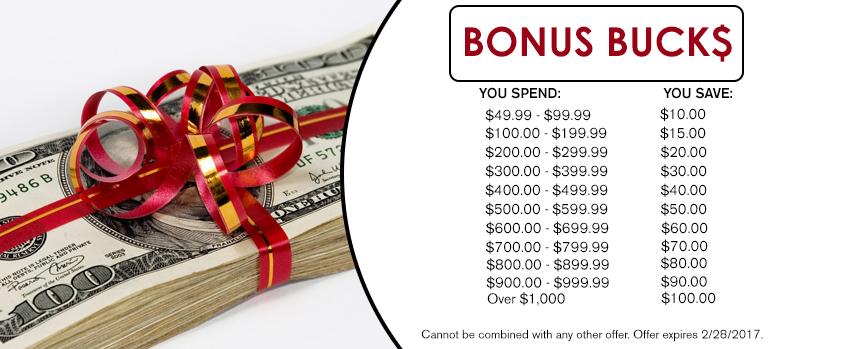 Bonus Bucks - Winter 16-17 - Mitsu