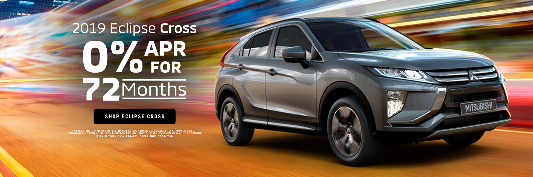 0% APR for 72mo Eclipse Cross