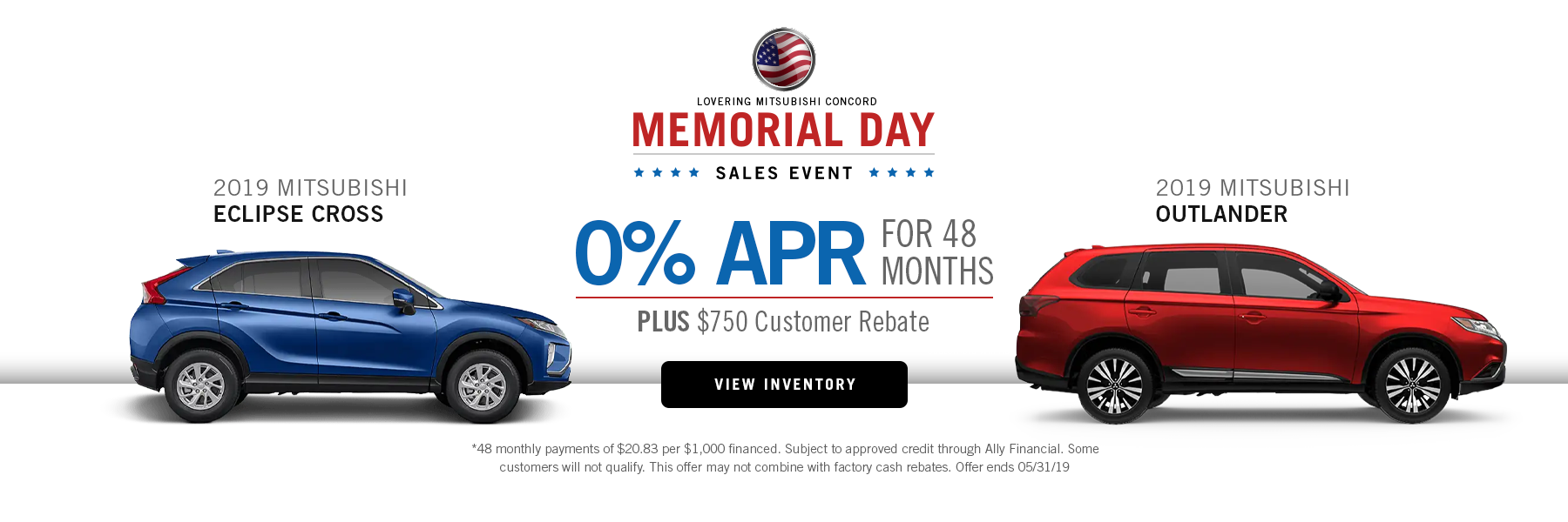 Memorial Day Sales Event 0%