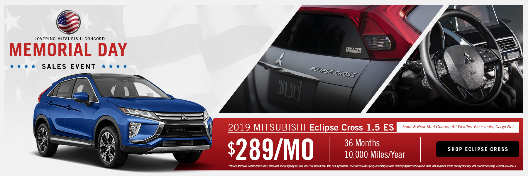 Memorial Day Eclipse Lease Offer