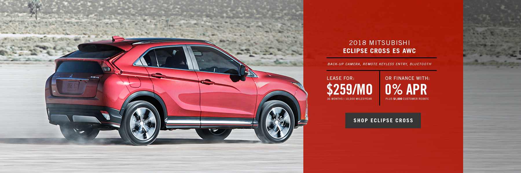 Mitsubishi Eclipse Cross Special Offer
