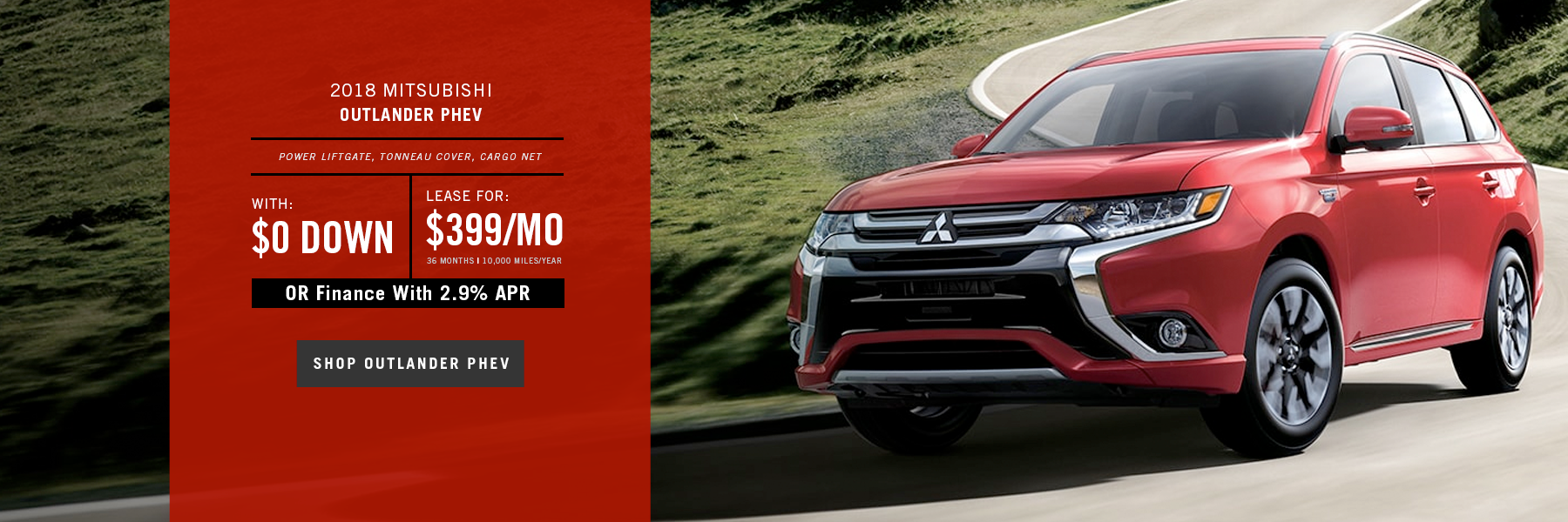 Mitsubishi Outlander PHEV Special Offer