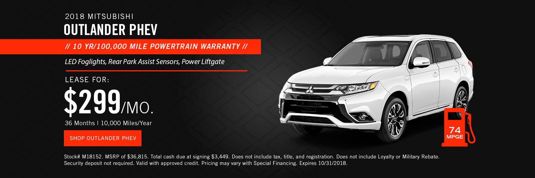 Mitsubishi Outlander PHEV Lease Offer