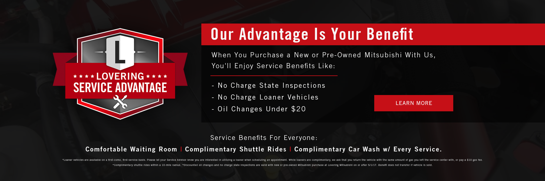 Lovering Mitsubishi Service Advantage