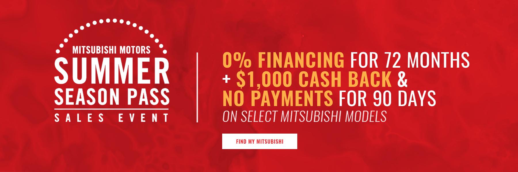 Mitsubishi Summer Season Pass Concord NH