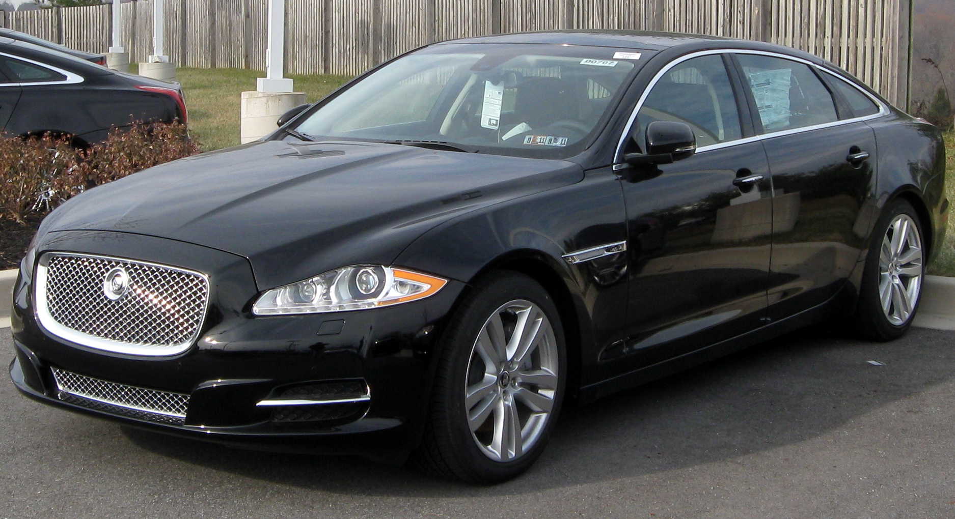 The Jaguar XJ.