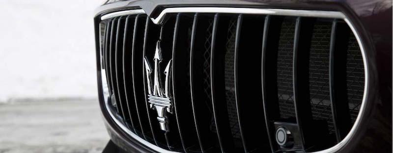 The 2016 Maserati Quattroporte's impressive grille