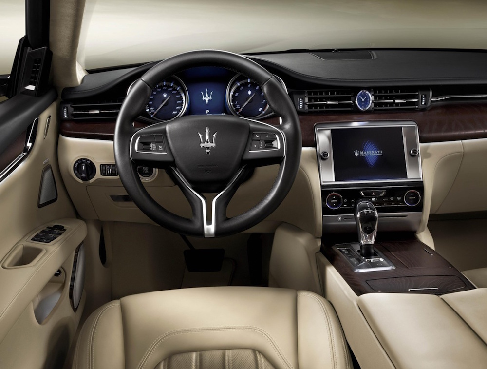 Under It's still a Maserati header labeled 2013 Quattroporte Interior