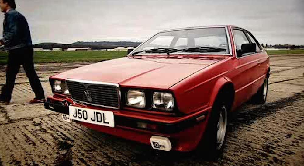 A Red 1980 Maserati Biturbo