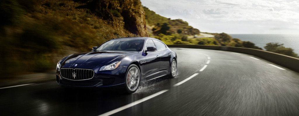 2016 Maserati Quattroporte on mountain pass
