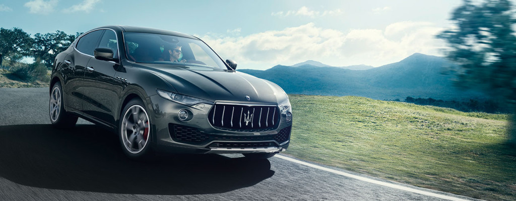 2017 Maserati Levante on the highway