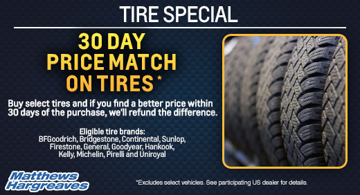 30 Day Price Back Guarantee On Tires Matthews Hargreaves