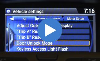 Honda Odyssey Remote Entry System