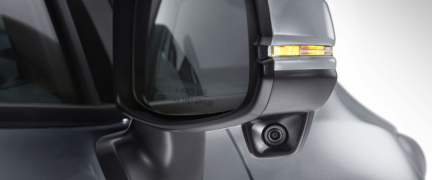 Honda Fit side mirror with lanewatch camera