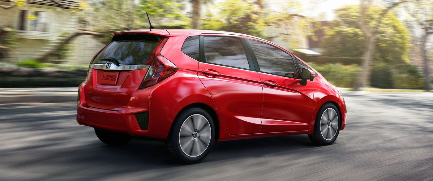 2017 Honda Fit driving down the road