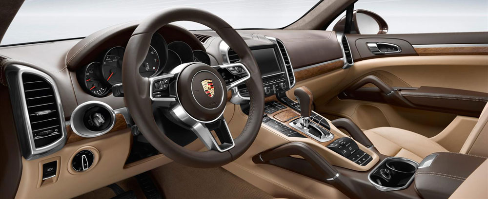 The lush and luxurious interior of the porsche cayenne Porsche cayenne interior parts