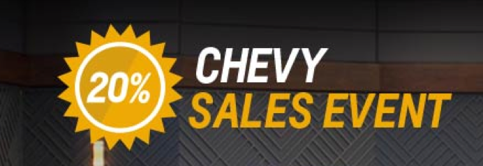 Chevy 20% off Sale Massillon Akron Ohio