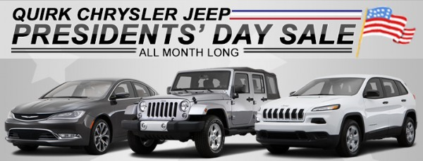 President's Day Sale 2015 at Quirk Chrysler Jeep