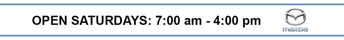 Open Saturdays: 7:00 am - 4:00 pm
