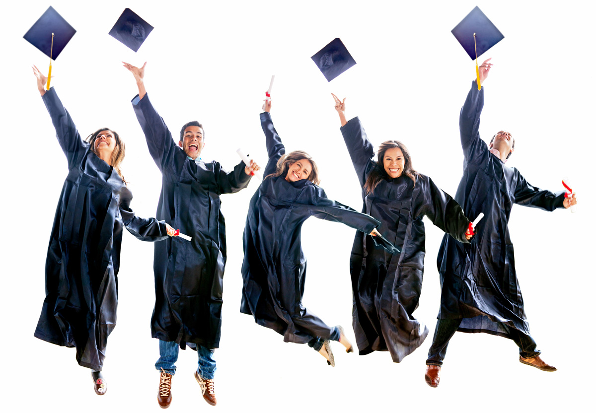 Graduates-Jumping