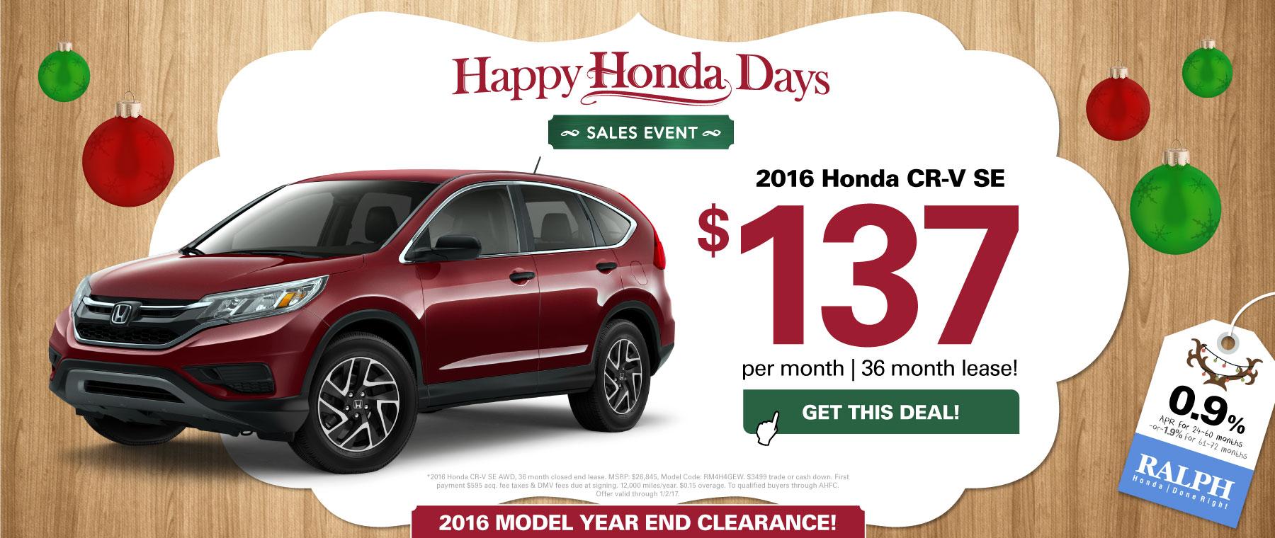 Honda used car dealer in rochester ny ralph honda for Honda crv lease deals ny