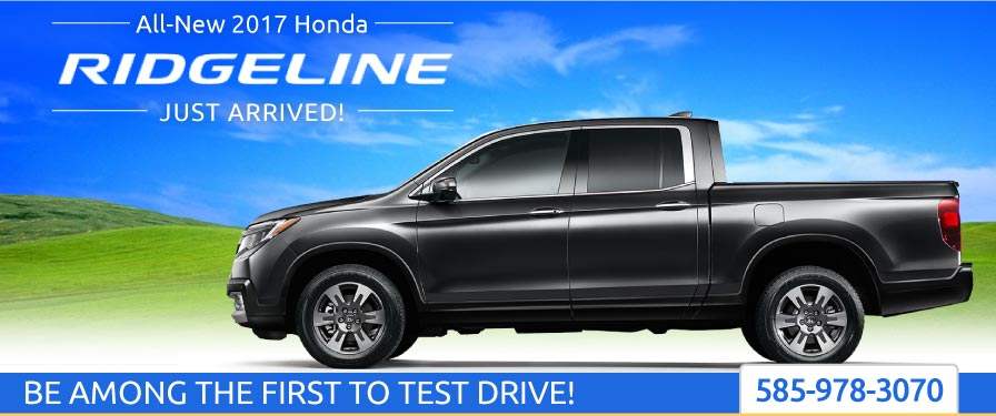 Header Photo of the all-new 2017 Honda Ridgeline coming to Ralph Honda Rochester NY