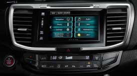 The new Accord brings entertainment to your fingertips