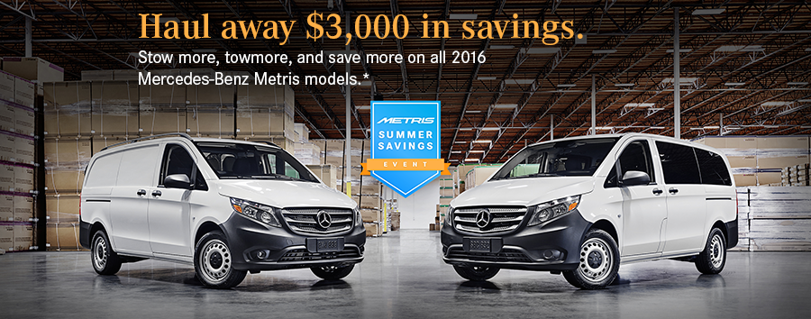 Mercedes benz sprinter van special offers rbm of atlanta for Mercedes benz of south atlanta service coupons