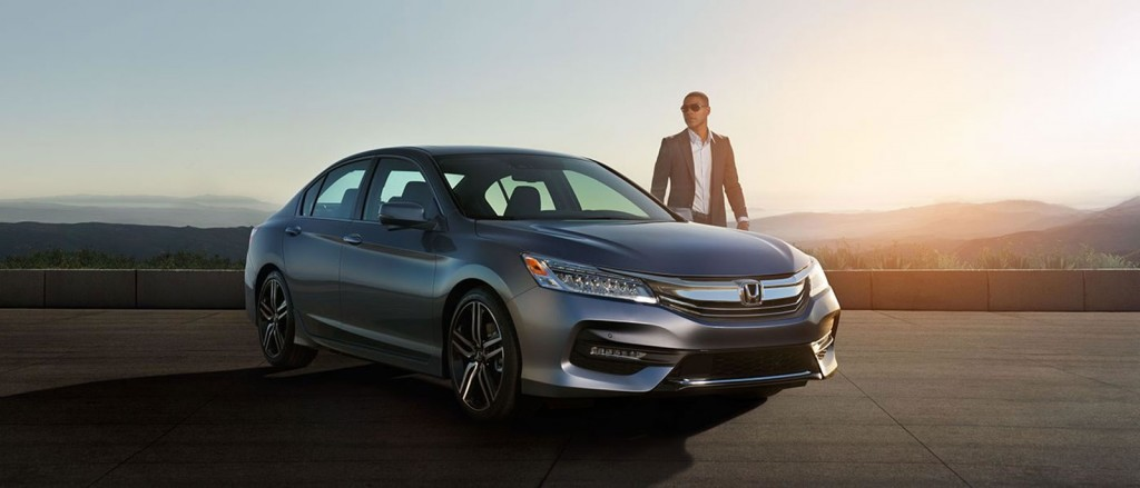 2017 Honda Accord Sedan at dusk with mysterious driver
