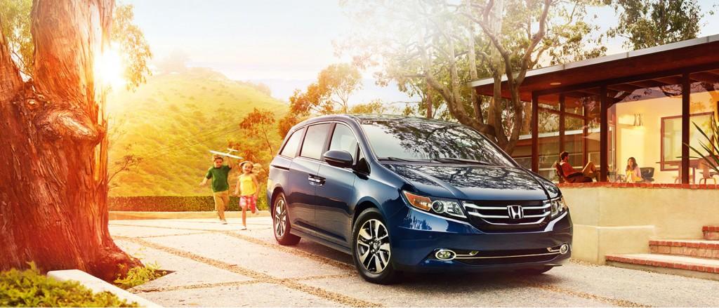 2016 Honda Odyssey blue exterior
