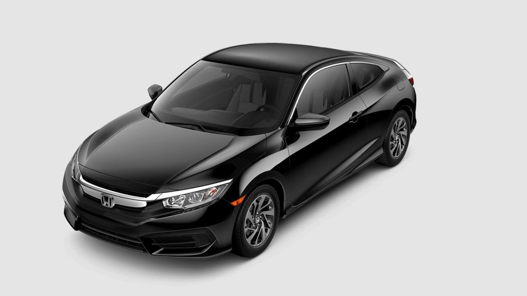 black 2017 Honda Civic EX-L