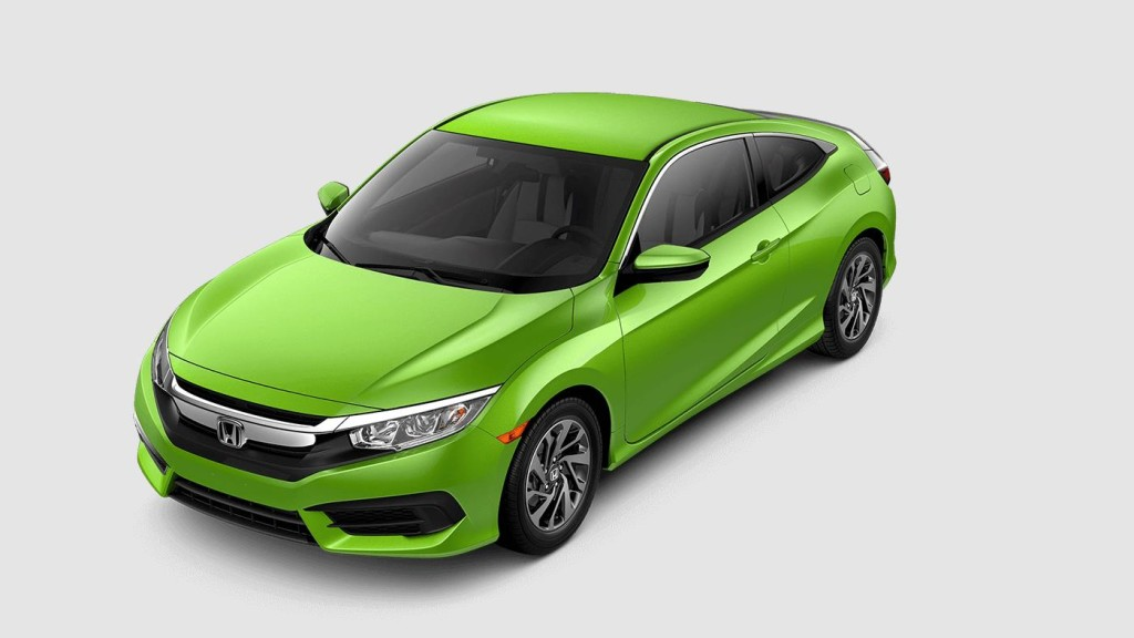 green 2017 Honda Civic EX-T