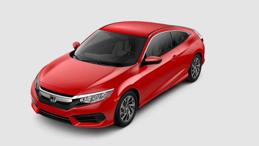 red 2017 Honda Civic LX-P