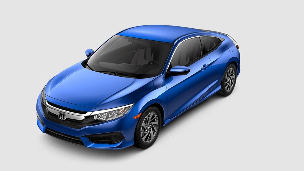 blue 2017 Honda Civic Touring