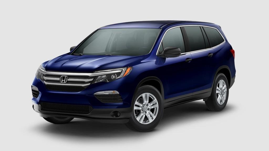 dark blue 2017 Honda Pilot EX