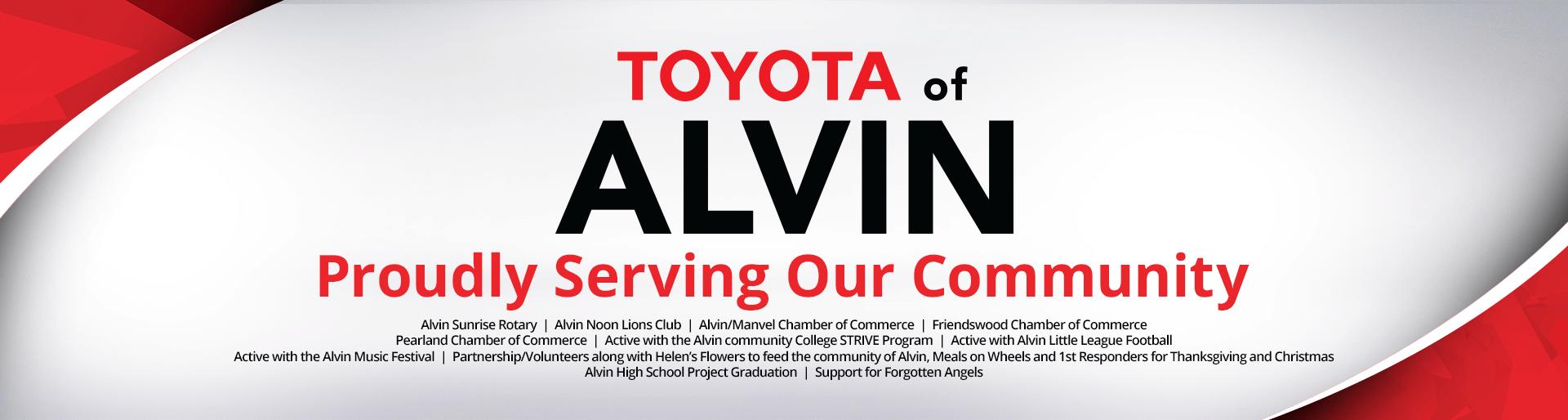 Community Toyota Baytown >> Toyota of Alvin | Toyota Dealer in Alvin, TX