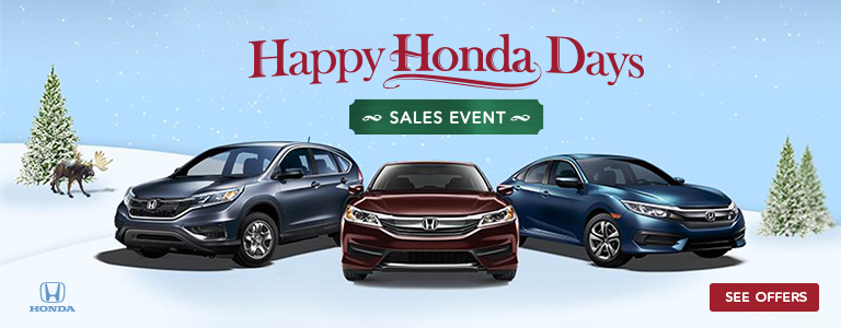 Happy Honda Days Sales Event from Tri-State Honda Dealers