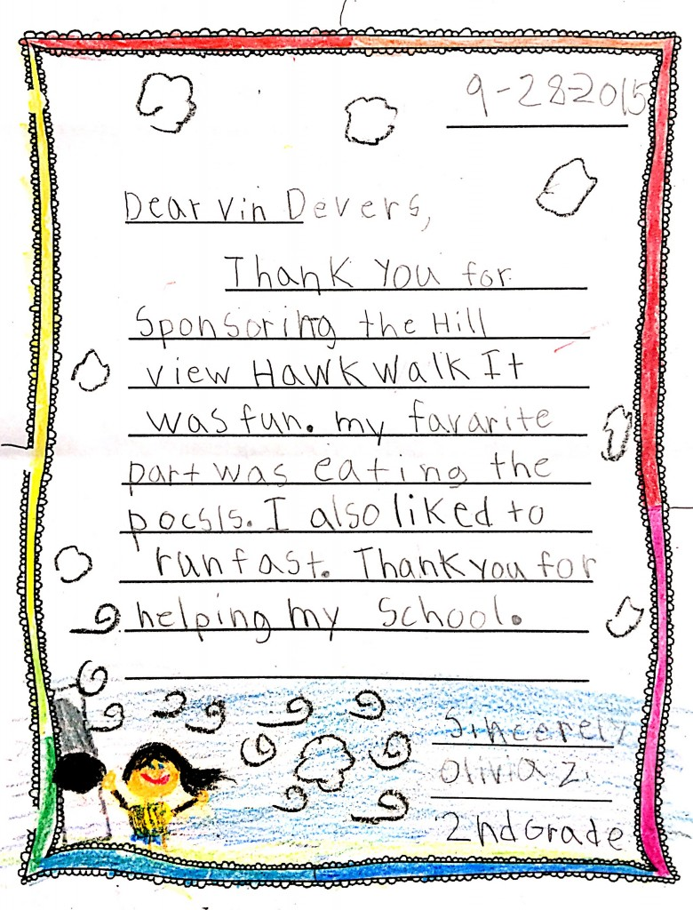 Hill View Elementary Letter 2
